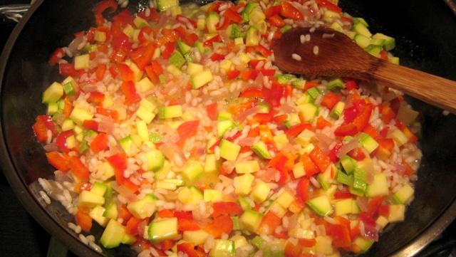 Ризото - зеленчуците
