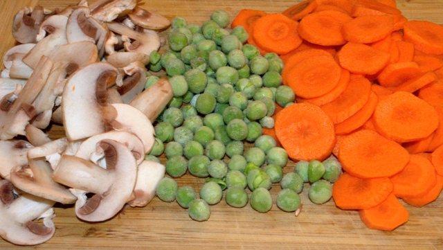 есенна салата - продуктите