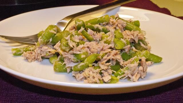 зелен боб с риба тон