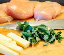 пиле с риган и ементал